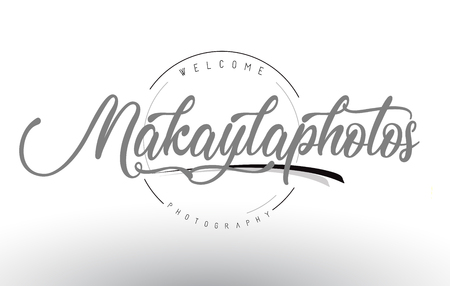 Makayla Personal Photography Logo Design with Photographer Name and Handwritten Letter Design.