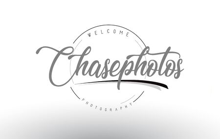 Chase Personal Photography Logo Design with Photographer Name and Handwritten Letter Design.