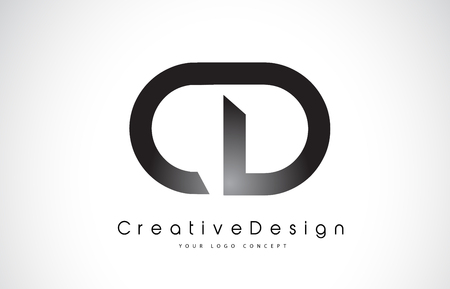 CD C D Letter Logo Design in Black Colors. Creative Modern Letters Vector Icon Logo Illustration.