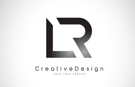 Letter LR icon design in black colors. Creative modern letters vector icon illustration.