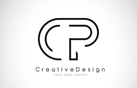 CP C P Letter Logo Design in Black Colors. Creative Modern Letters Vector Icon Logo illustration. Illustration