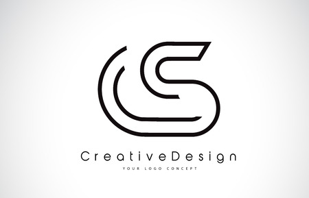 CS C S Letter icon Design in Black Colors. Creative Modern Letters Vector Icon Illustration. Vektoros illusztráció