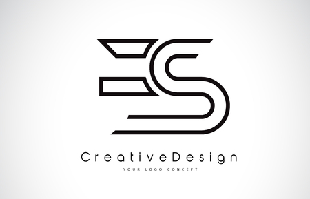 ES E S Letter. Design in Black Colors. Creative Modern Letters Vector Icon Logo illustration.
