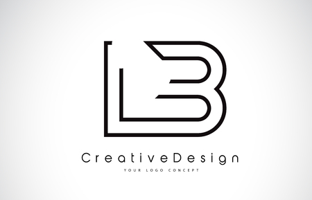 LB L B Letter icon Design in Black Colors. Creative Modern Letters Vector Icon Illustration. Stock Illustratie