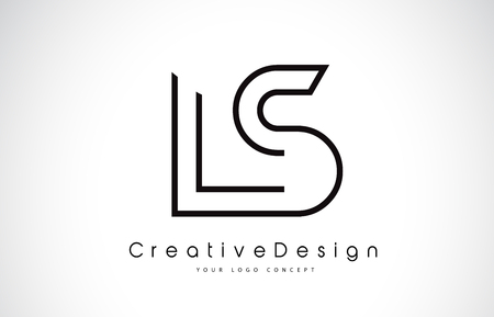 LS L S Letter. Design in Black Colors. Creative Modern Letters Vector Icon Logo illustration.