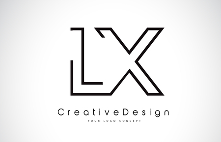 LX L X Letter. Design in Black Colors. Creative Modern Letters Vector Icon Logo illustration.