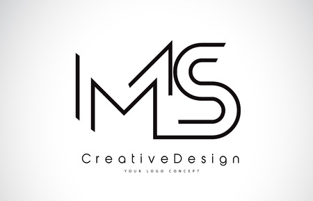 MS M S Letter icon Design in Black Colors. Creative Modern Letters Vector Icon Illustration.