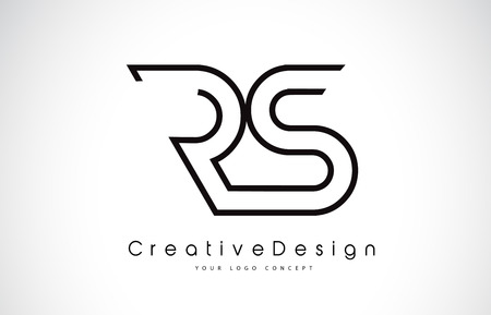 RS R S Letter. Design in Black Colors. Creative Modern Letters Vector Icon Logo illustration.