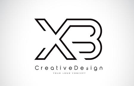 XB Letter Logo Design in Black Colors. Creative Modern Letters Vector Icon Logo Illustration.
