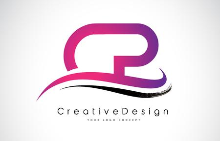 CP C P Letter Logo Design in Black Colors. Creative Modern Letters Vector Icon Logo Illustration.