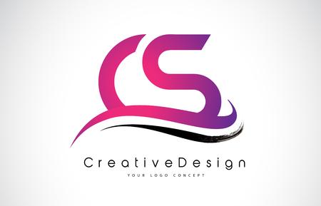 CS Letter symbol Design Ilustração