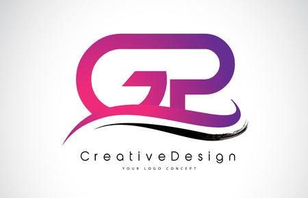 GP G P Letter Logo Design in Black Colors. Creative Modern Letters Vector Icon Logo Illustration. Illustration