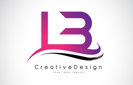 LB L B Letter Logo Design in Black Colors. Creative Modern Letters Vector Icon Logo Illustration.