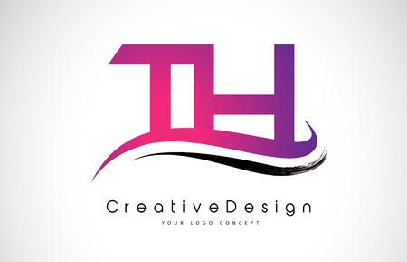 Creative Modern Letters of TH Vector Icon Logo Illustration. Illustration