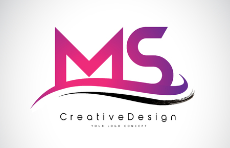 Creative Modern Letters MS Vector Icon Logo Illustration.