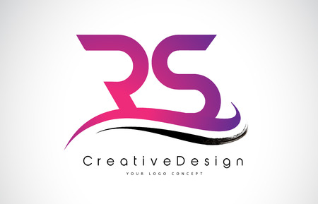 Creative Modern Letters RS Vector Icon Logo Illustration.