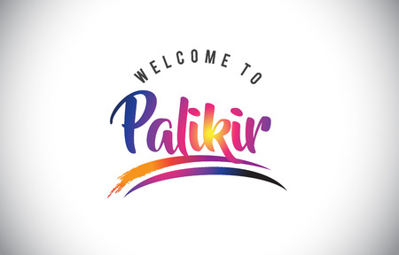 Palikir Welcome To Message in Purple Vibrant Modern Colors Vector Illustration. Illustration