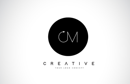 CM C M Logo Design with Black and White Creative Icon Text Letter Vector.