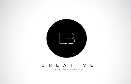 LB L B Logo Design with Black and White Creative Icon Text Letter Vector. Ilustração