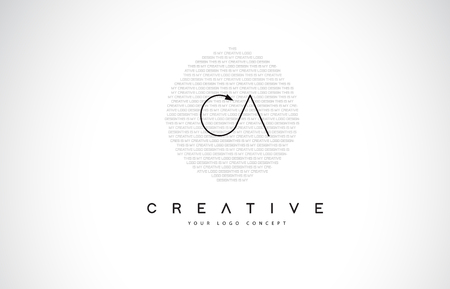 CA C A Logo Design with Black and White Creative Icon Text Letter Vector.