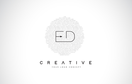 ED E D Logo Design with Black and White Creative Icon Text Letter Vector. Ilustracja
