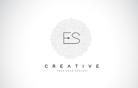 ES E S Logo Design with Black and White Creative Icon Text Letter Vector.