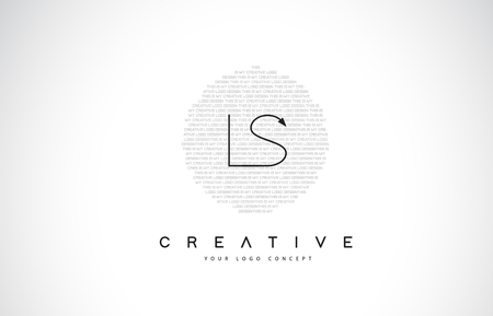 LS L S Logo Design with Black and White Creative Icon Text Letter Vector.