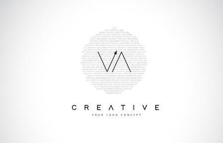 VA V A Logo Design with Black and White Creative Icon Text Letter Vector. Logo