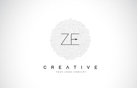 ZE ZE-Logo-Entwurf mit Schwarzweiss-kreativem Symbol-Text-Buchstaben-Vektor.