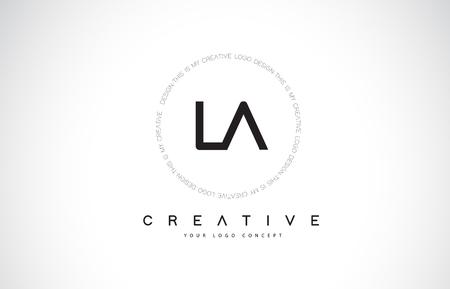 LA L A Logo Design with Black and White Creative Icon Text Letter Vector. Logo