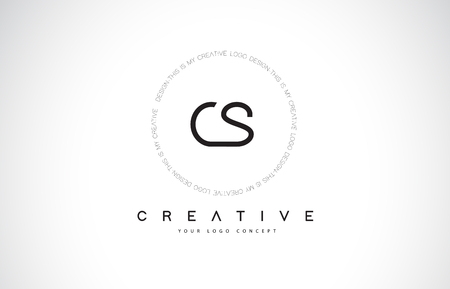 CS C S Logo Design with Black and White Creative Icon Text Letter Vector. Logó