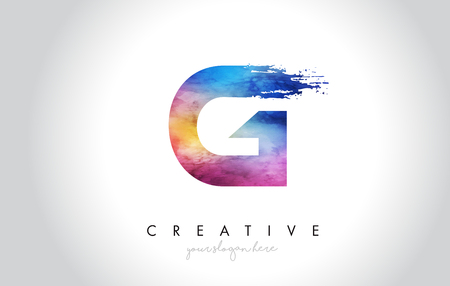 G Paintbrush Letter Design with Watercolor Brush Stroke and Modern Vibrant Colors Vector. Illusztráció