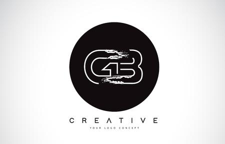 GB Modern Leter Logo Design with Black and White Monogram. Creative Letter Logo Brush Monogram Vector Design. Logó
