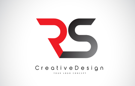 Red and Black RS R S Letter Logo Design in Black Colors. Creative Modern Letters Vector Icon Logo Illustration. Logó