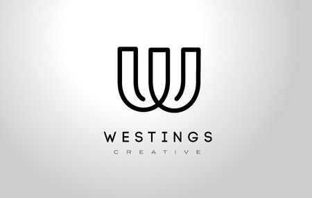 W Logo.W Letter Design Vector Illustration Modern Monogram Icon.
