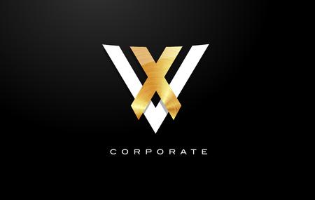 Golden Letter V Logo. V Letter Design Vector with Golden Colors and Modern Design. Ilustração