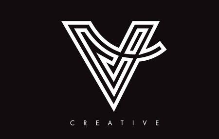 V Letter Design Logo. Letter V Icon Logo with Modern Swoosh vector Illustration. Logó
