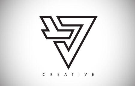 V Letter Monogram Design Logo. Letter V Icon Logo with Modern Monogram Vector Illustration.