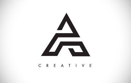 Litera nowoczesny modny design Logo. Litera A ikona Logo z ilustracji wektorowych Monogram.