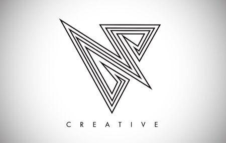 Logo de conception à la mode moderne lettre V. Logo d'icône de lettre V avec illustration vectorielle de monogramme.