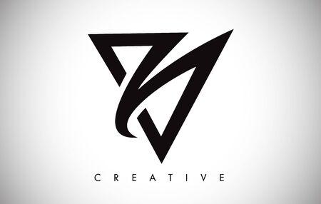 Litera V nowoczesny modny design Logo. Litera V ikona Logo z ilustracji wektorowych Monogram.