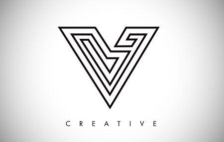 V Letter Modern Trendy Design Logo. Letter V Icon Logo with Monogram Vector Illustration.