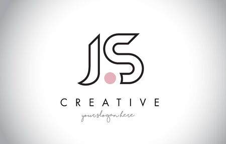 JS Letter Logo Design with Creative Modern Trendy Typography and Black Colors.
