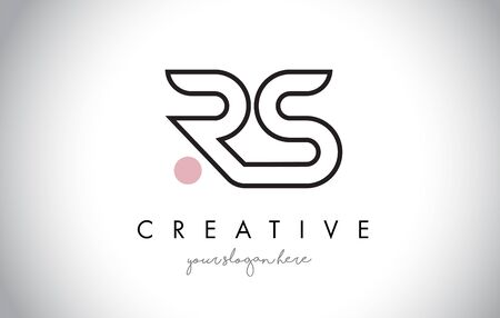 RS Letter Logo Design with Creative Modern Trendy Typography and Black Colors. Illustration