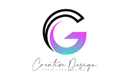 Letter G Logo Design Icon With Modern Creative Colorful Swoosh. Modern G letter Design Vector Illustration.