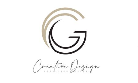 G Letter Logo Design Icon with Monogram Lines and Creative Look Concept Vector Illustration.