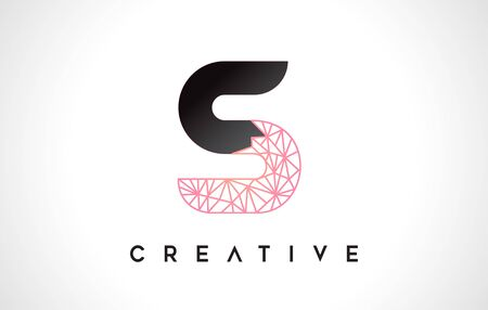 Letter S Beauty Logo. S Letter Design Vector with Origami Look Vector Illustration.