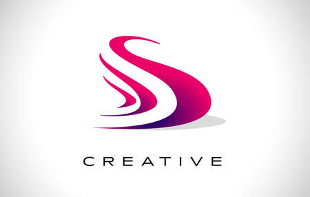 S Purple Logo Design Vector with Creative Modern Design Shape and Vibrant Colors. s Icon Vector. S letter design Idea Logo
