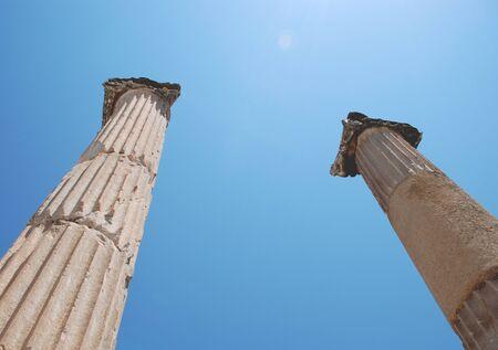 Pillars at Ephesus, Izmir, Turkey, Middle East photo