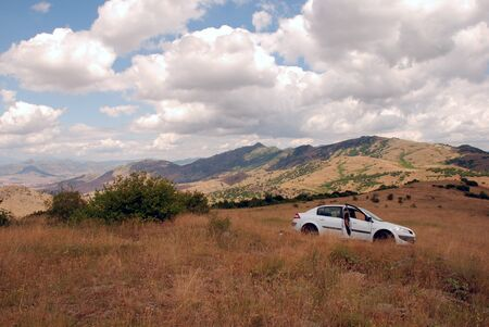 Car of the mountain  Landscape of Macedonia  photo